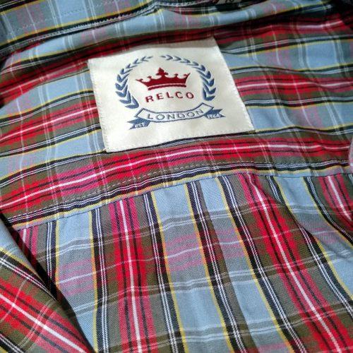 Camisa Tartán Azul y Roja