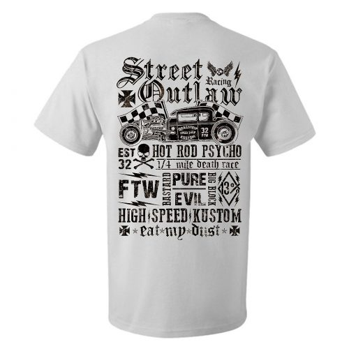 Camiseta Street Outlaw White