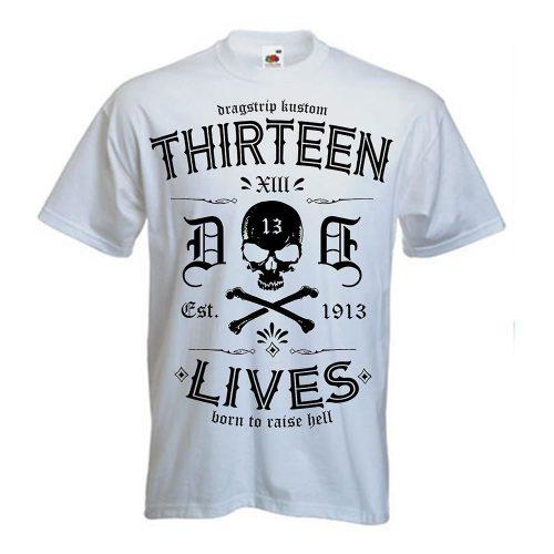 Camiseta Dragstrip Kustom 13 White